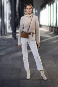 άσπρο μποτάκι άσπρο παντελόνι