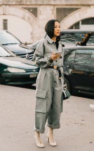 άσπρο ψηλό μποτάκι κορδόνια ολόσωμη φόρμα trends Χειμώνα