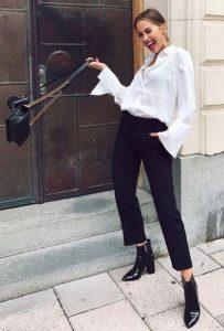 chino παντελόνι μαύρα μποτάκια