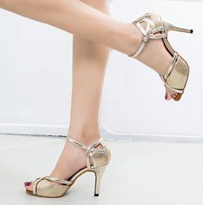 χρυσά λάτιν παπούτσια