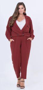 cropped σταυρωτό γυναικείο σακάκι
