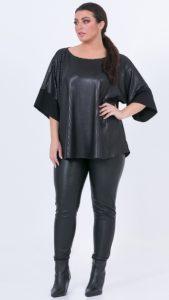 δερμάτινη γυναικεία μπλούζα MAT
