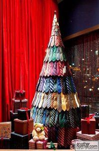 diy δέντρο Χριστουγέννων γραβάτες