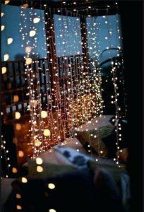 φωτάκια χριστούγεννα μπαλκόνι