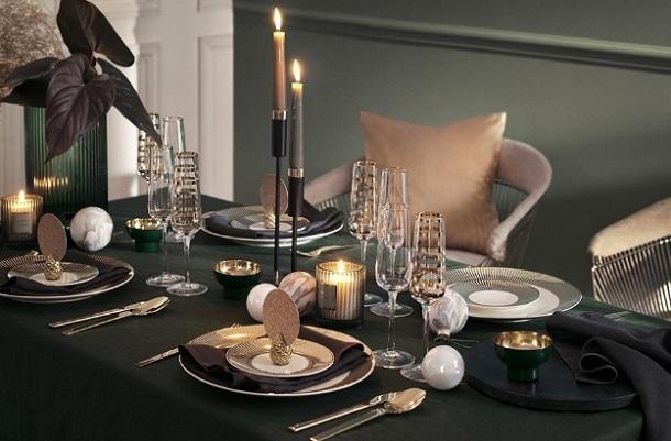 ιδέες στρώσιμο γιορτινό τραπέζι