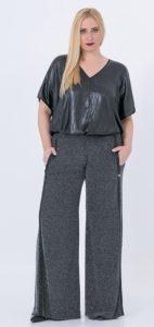 χειμερινή ελαστική παντελόνα Mat fashion