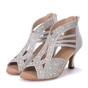 ασημί παπούτσια