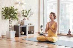 γυναίκα διαλογισμός στρώμα yoga