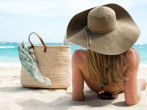 γυναίκα θάλασσα παραλία καπέλο