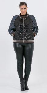 γυναικείο bomber μπουφάν με παγιέτες