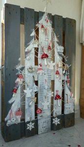 ιδέες χριστουγεννιάτικης διακόσμησης από παλέτες