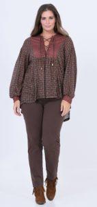 καφέ γυναικείο plus size παντελόνι χειμώνας 2020