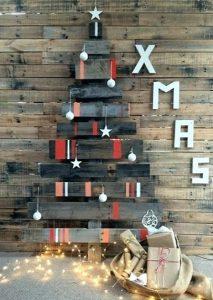 κατασκευές από παλέτες Χριστούγεννα