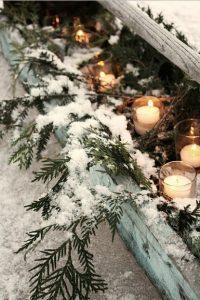 κεράκια χριστούγεννα διακόσμηση
