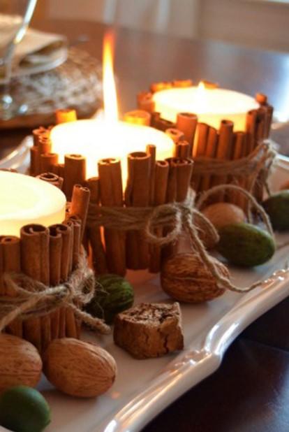 κερί με sticks κανέλας