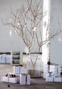 λευκή διακόσμηση Χριστουγέννων 2019