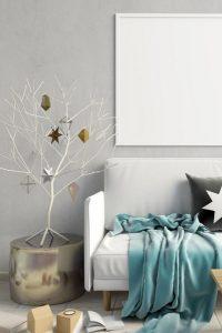 λευκό χριστουγεννιάτικο δεντράκι