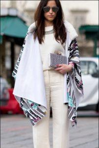 εντυπωσιακό παλτό στα λευκά