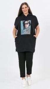 μακριά γυναικεία φούτερ μπλούζα