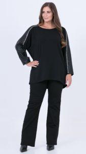 μαύρη γυναικεία μπλούζα με πούλιες
