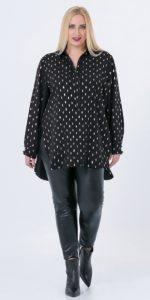 μαύρο ασύμμετρο γυναικείο πουκάμισο