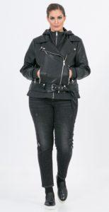 μαύρο γυναικείο δερμάτινο μπουφάν