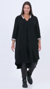 μαύρο midi casual φόρεμα