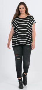 μαύρο γυναικείο παντελόνι σκισίματα