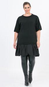 μαύρο πλεκτό μπλουζοφόρεμα 2020