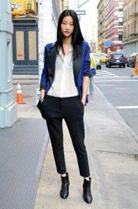 μαύρο chino παντελόνι μαύρο μποτάκι