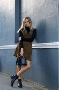 μαύρο μποτάκι καστόρ φόρεμα