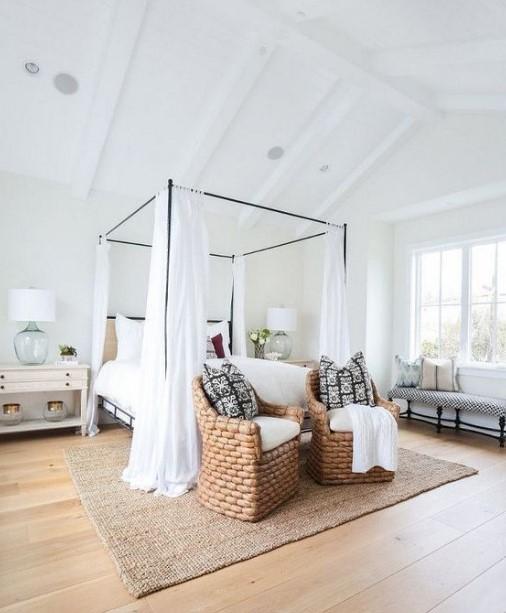 μεταλλικό κρεβάτι με πανιά κλασική κρεβατοκάμαρα