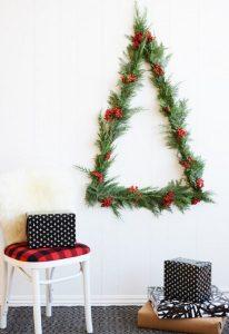 μίνιμαλ διακόσμηση τοίχου Χριστούγεννα