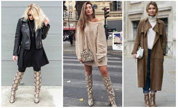 27 Μοντέρνα outfits για μπότες με print δέρμα φιδιού!