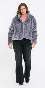 μοβ γούνα επίσημο ντύσιμο