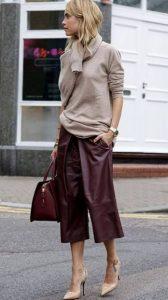 μπορντό δερμάτινο κοντό παντελόνι χρώματα χειμώνα