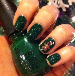 πράσινα γυαλιστερά νύχια glitter