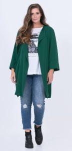πράσινο μακρύ γυναικείο σακάκι xxl
