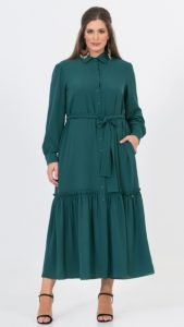 πράσινο χειμερινό φόρεμα πουκάμισο
