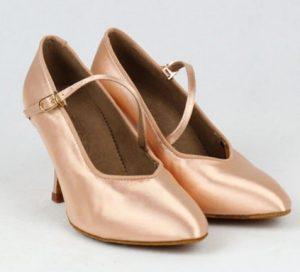 ροζ-nude παπούτσια χορού