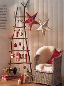 ρουστίκ δέντρο Χριστουγέννων