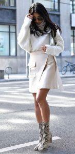λευκό γυναικείο χειμερινό outfit
