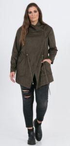 χακί σουέντ ασύμμετρο jacket