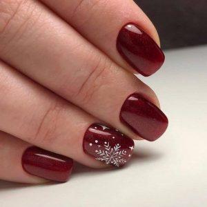 χιονονιφάδες κόκκινα νύχια
