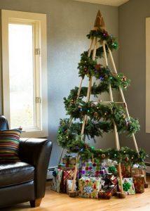 χριστουγεννιάτικη διακόσμηση σαλονιού δέντρο