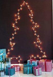 χριστουγεννιάτικη διακόσμηση σπιτιού λαμπάκια