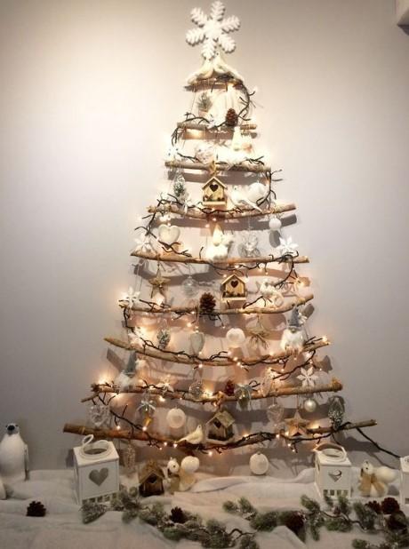 χριστουγεννιάτικο δέντρο τοίχου λαμπάκια