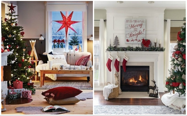 24 Όμορφες ιδέες χριστουγεννιάτικης διακόσμησης σαλονιού!