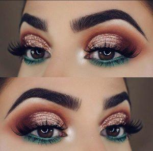πράσινη και κόκκινη σκιά μάτια