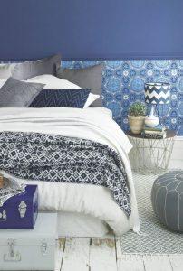 υπνοδωμάτιο κρεβάτι μαροκινό μοτίβο